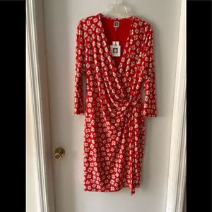 🎁3 for $75🎁 NWT Anne Klein Poppy Wrap Dress